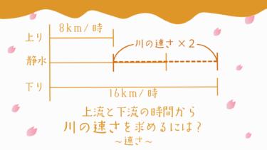 上流と下流まで進む時間から川の速さを求めるには?