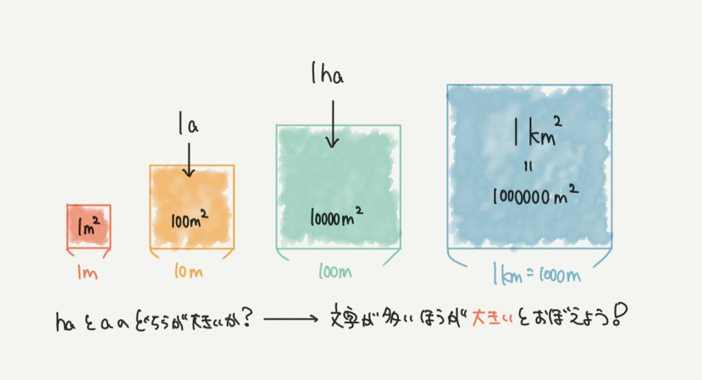 中学受験算数、「haとa」に関するイラスト解説